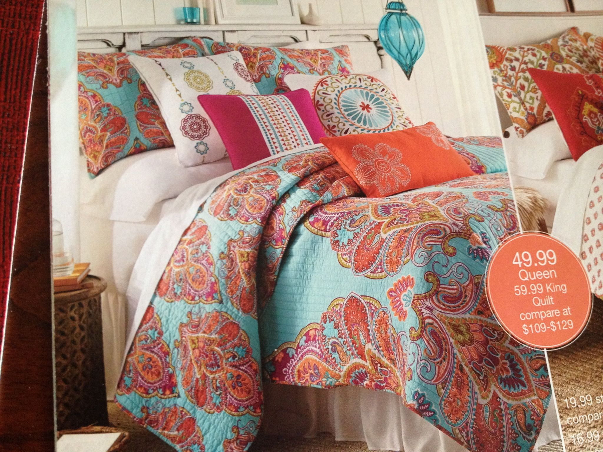 Stein Mart. Tivoli Teal quilt! I'm in love!! College life