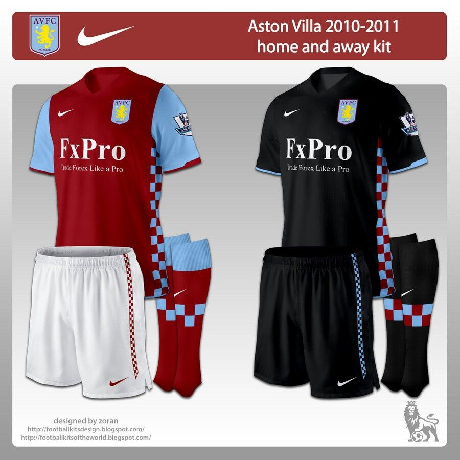 2010 aston villa jerseys Aston villa, Home and away, Aston