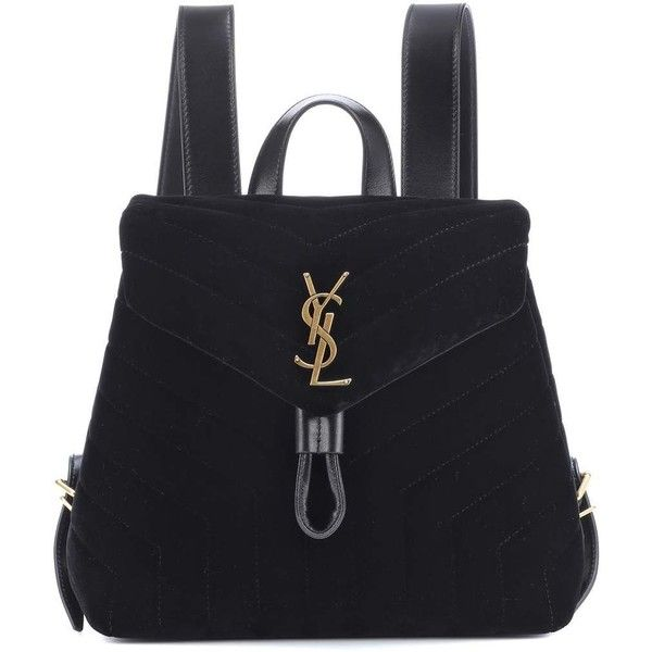 eb116bd6d80 Saint Laurent Small Loulou Velvet Backpack ( 1