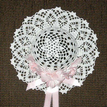 crochet decorative hat patterns lacy diamonds decorative. Black Bedroom Furniture Sets. Home Design Ideas