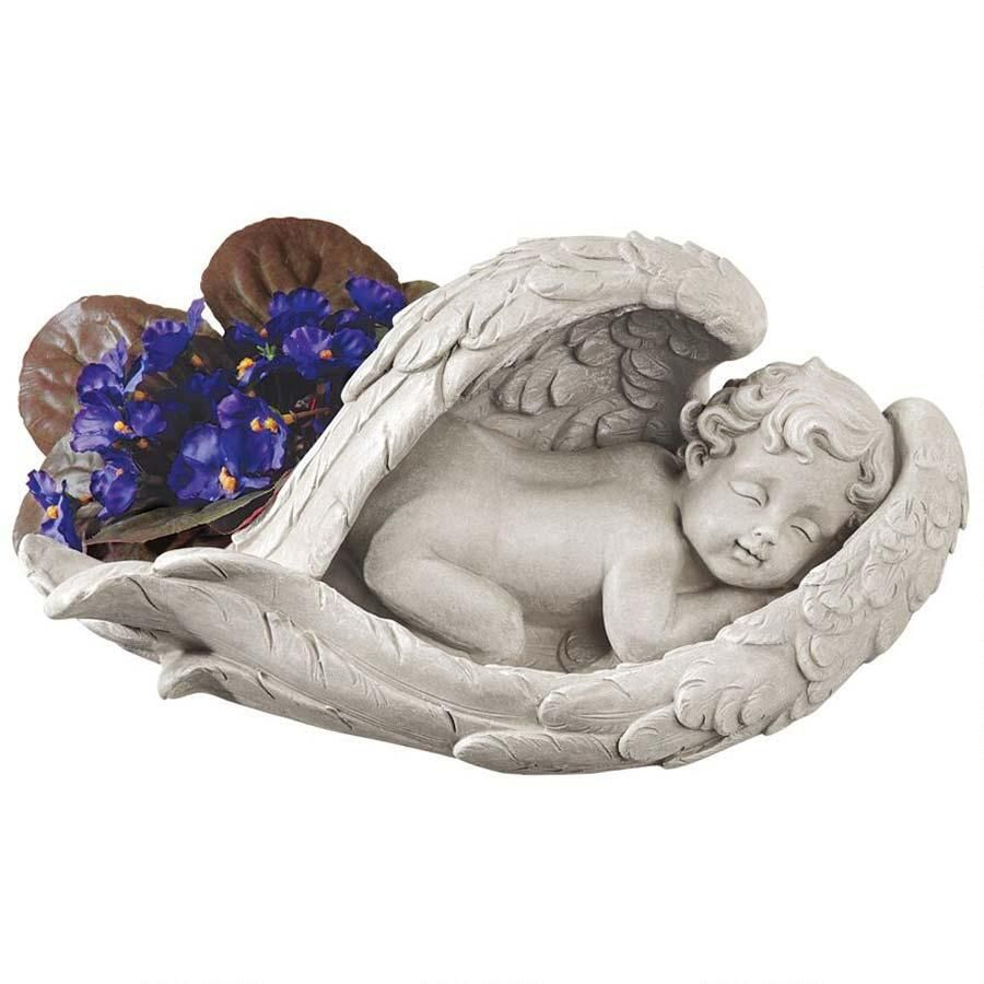 Small Angel Statues For Graves: Cherub, Garden Statues, Statue
