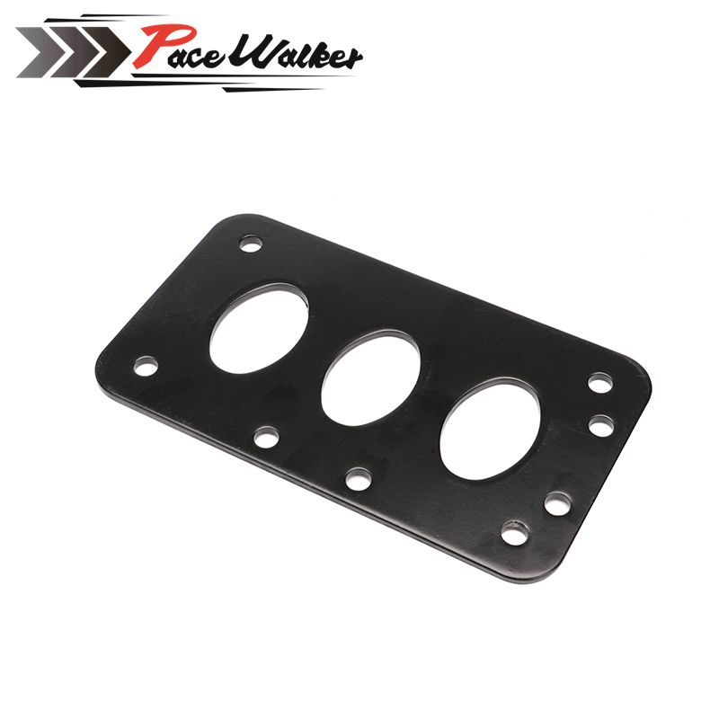 Black Universal Motorcycle License Plate Bracket Side Mount ...