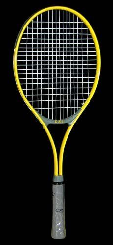 Yellow Midsize Wide Body Grip Tennis Racket By Csi Cannon Sports 29 45 Attractive Light Yellow High Beam Elliptical Tub Tennis Racket Grey Leather Wide Body