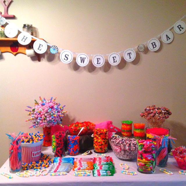 Candy Buffet For Girls 13th Birthday 13th Birthday Parties