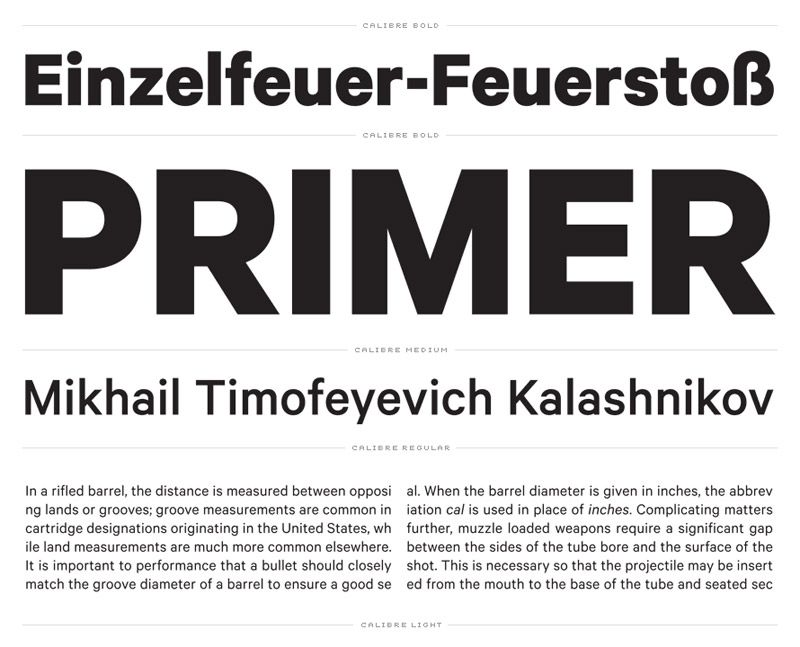 Calibre by Klim Type Foundry | Fonts | Sans serif typeface, Sans