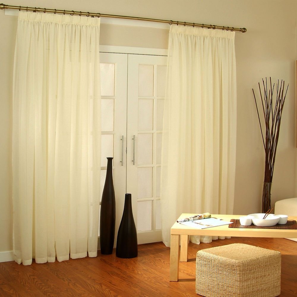 Patio Voile Net Sheer Panels Extra Wide For Bi Fold French Sliding Doors