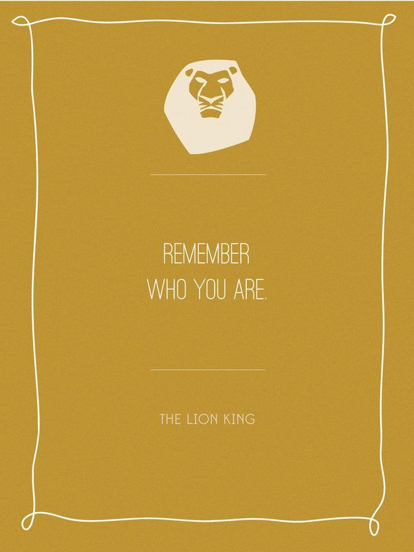 Self Awareness Movie Quote Posters The Lion King Whenever Thunder