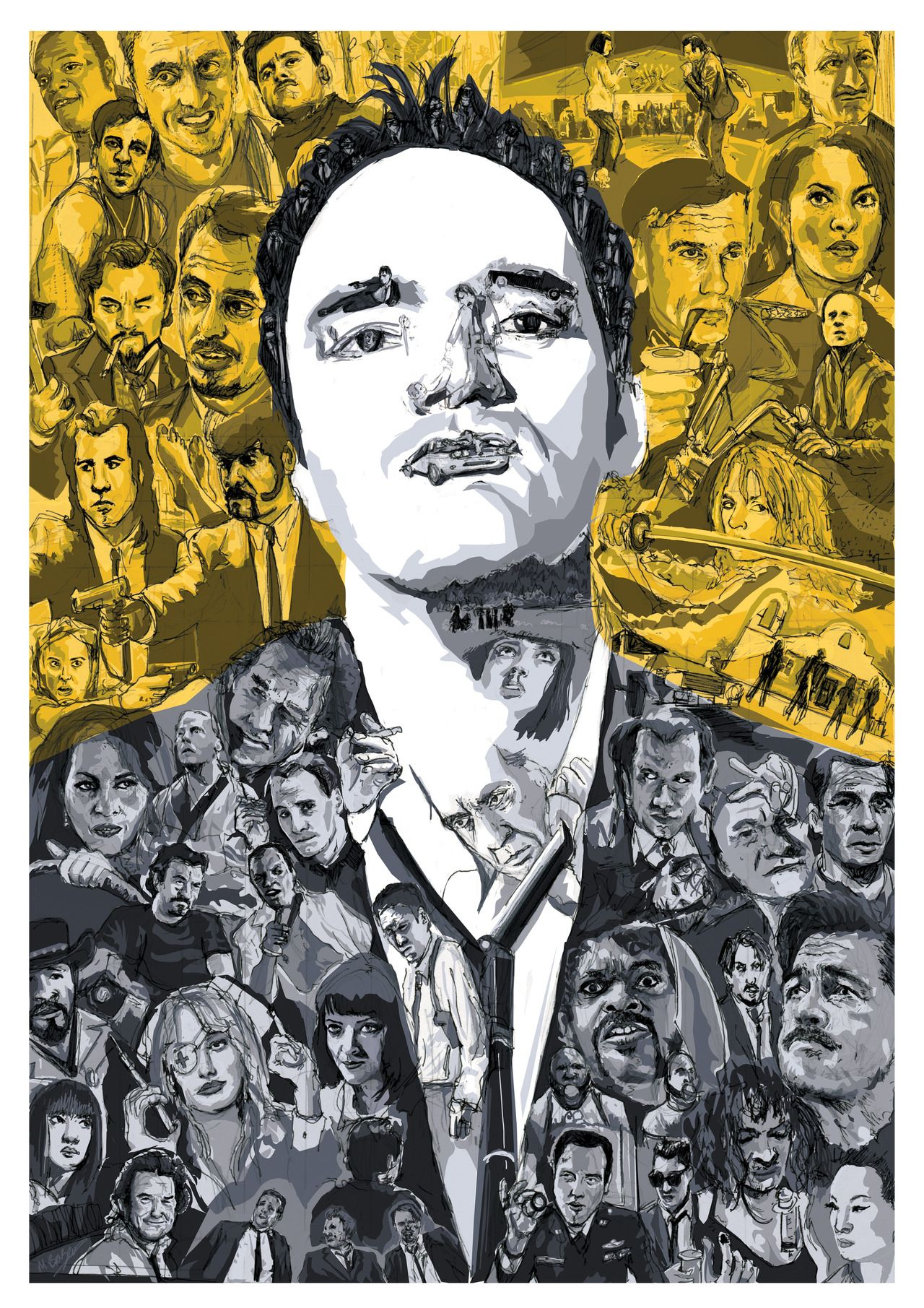 Quentin Tarantino A Portrait Of The Director Made Up Of