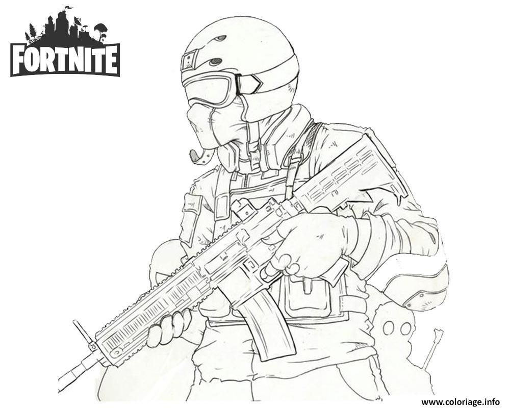 Coloriage A Imprimer Gratuit Fortnite.Coloriage Fortnite Soldier Dessin A Imprimer Coloring En