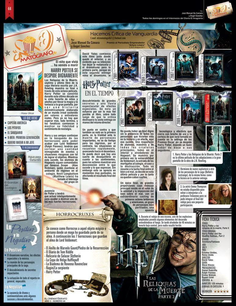 El Cinematografo No 44 Pelicula Harry Potter Y Las Reliquias De La Muerte Parte 2 Entertaining Movie Tv Teaching