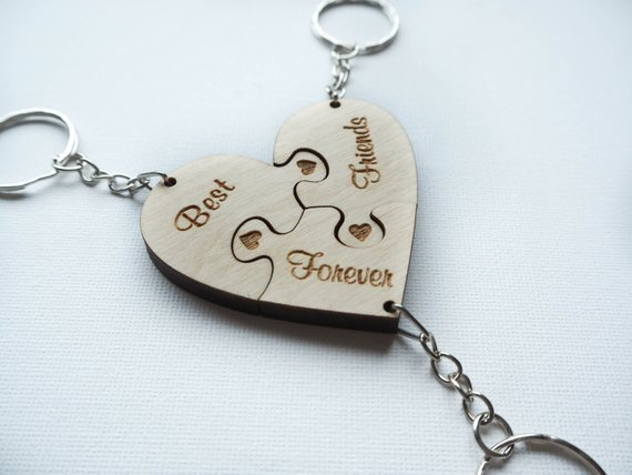 Bridesmaid Key Chain Personalized Friendship Gift for 3 3 Best Friend Keychain Sister Wedding