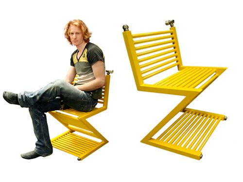 Radiator Chair - Designer Jeroen Wesselink created a chair from an old radiator.