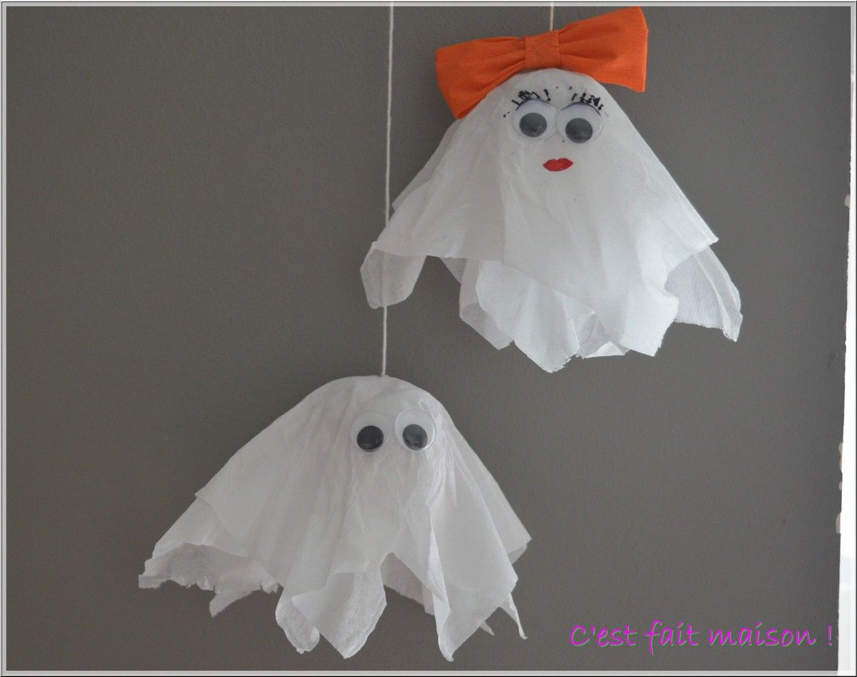 diy petits fant mes d 39 halloween avec du papier cr pon. Black Bedroom Furniture Sets. Home Design Ideas