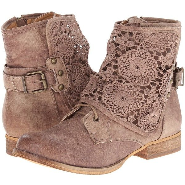 Not Rated Crunchiness Women's Boots (835 ZAR) ❤ liked on Polyvore featuring shoes, boots, stacked heel boots, laced up boots, front lace up boots, side zipper boots and lacing boots