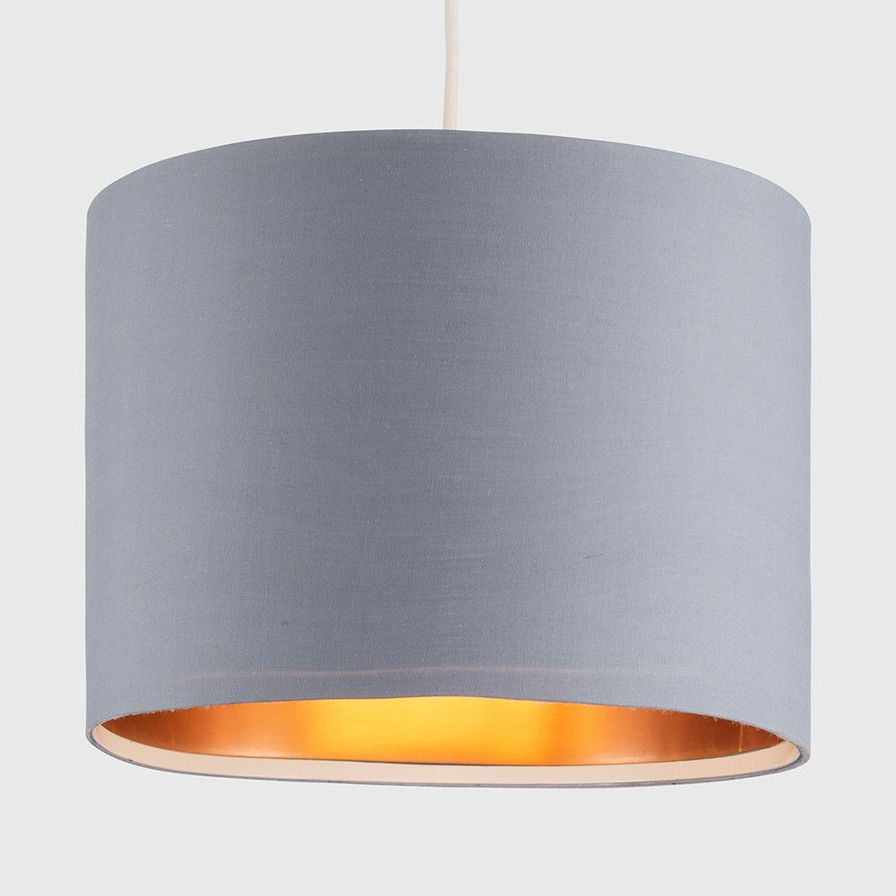 Large Grey And Copper Pendant Shade Iconic Lights Copper