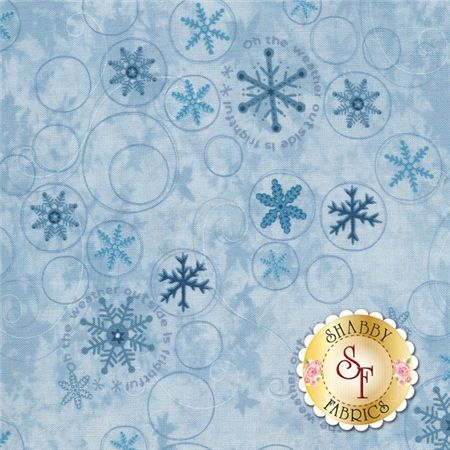 Snowbound Collection 8158-11 Snowflakes Blue sold by the 1//2 yard