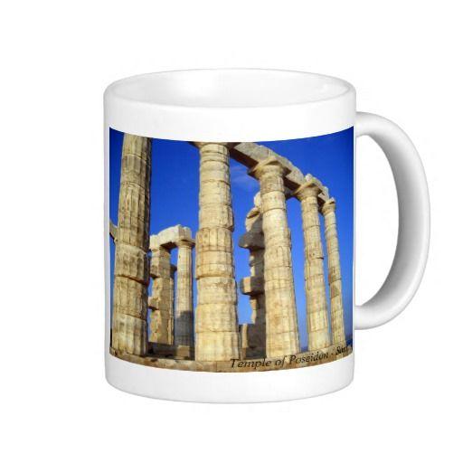 The temple of Poseidon in Sounio Mug