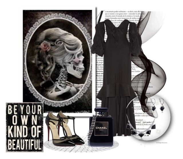 """Simply Black"" by leanne-mcclean ❤ liked on Polyvore featuring Johanna Ortiz and Chanel"
