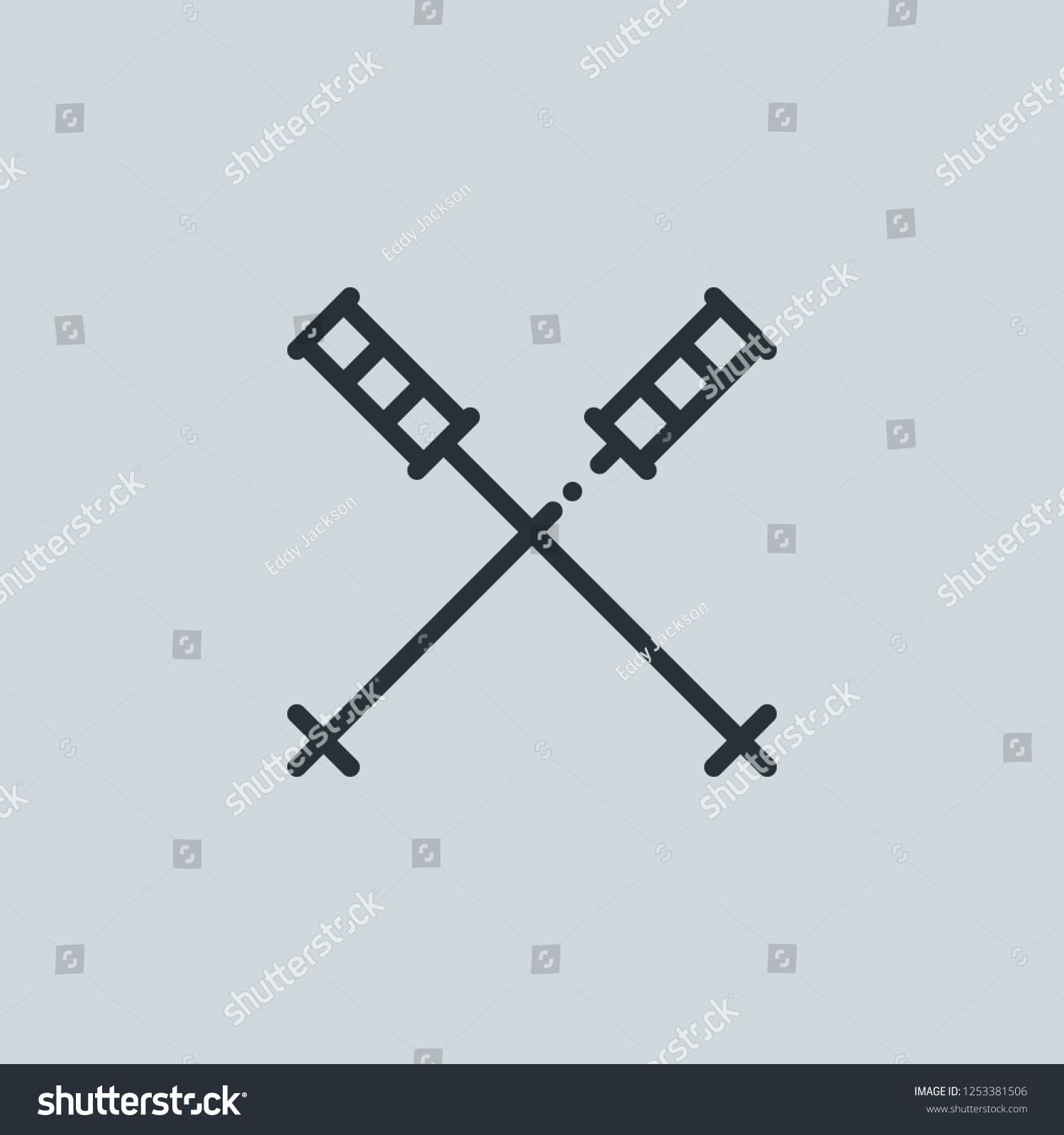 Outline Ski Vector Icon Ski Illustration For Web Mobile Apps Design Ski Vector Symbol Ad Ad Icon Sk Abstract Design Royalty Free Photos Illustration