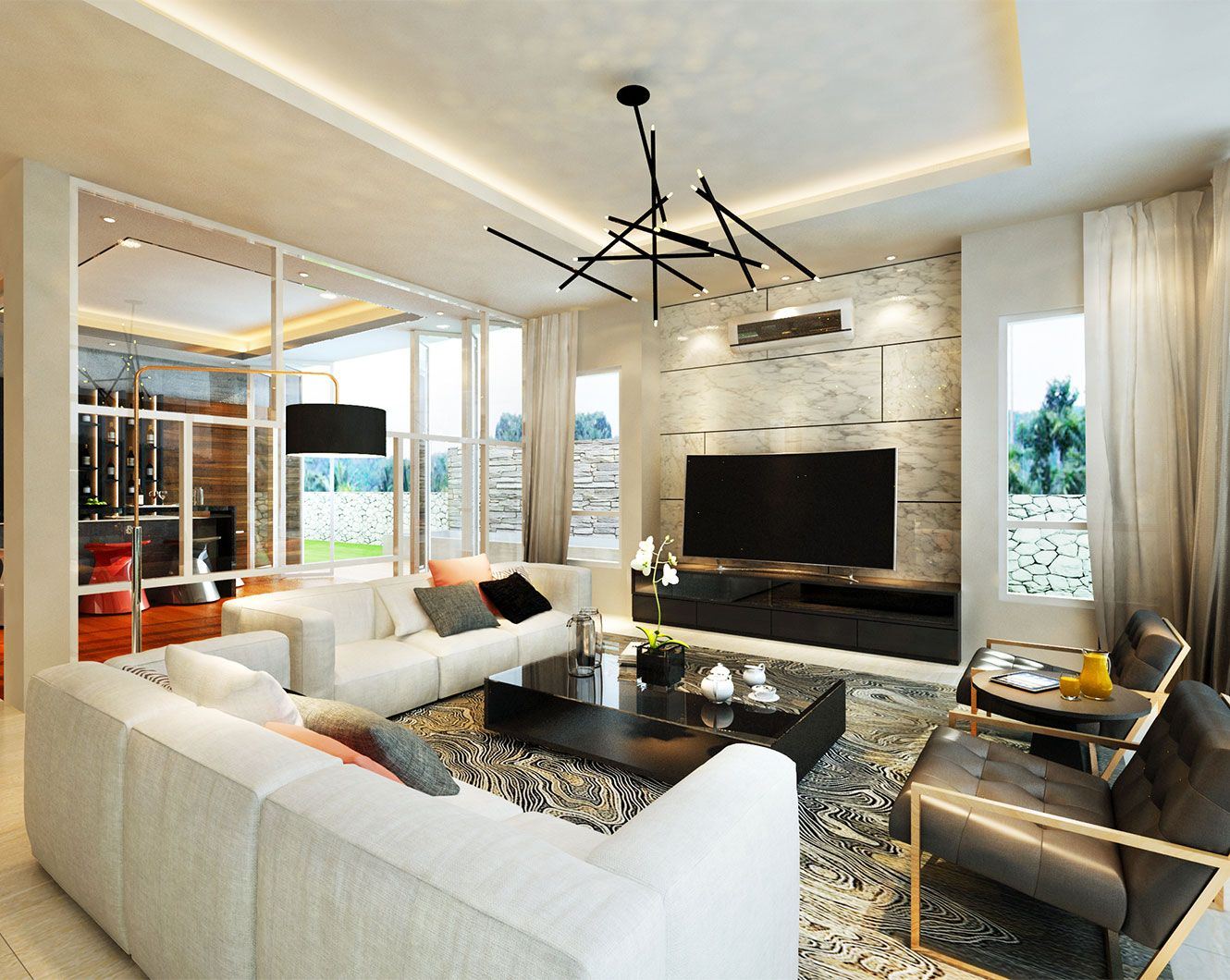 Modern Classical Living Room Design In Luxury Bungalow Malaysia Hall And Living Room Luxury Interior Design Classical Living Room Malaysia living room ideas