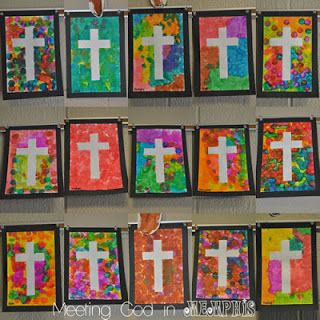 Cross Art Preschool Made With Dot Markers Other Mediums Would