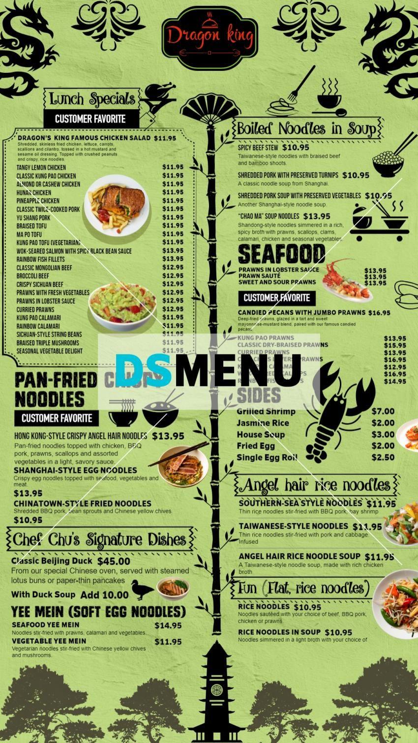 Lunch Special Digitalsignage Menu Board Design For Lunch Menu Lunch Specials Chinese Menu Menu Board Design