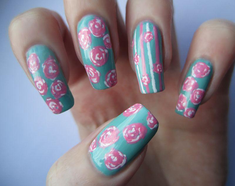 General Diy California Nail Art Polish Design With Polkadots And