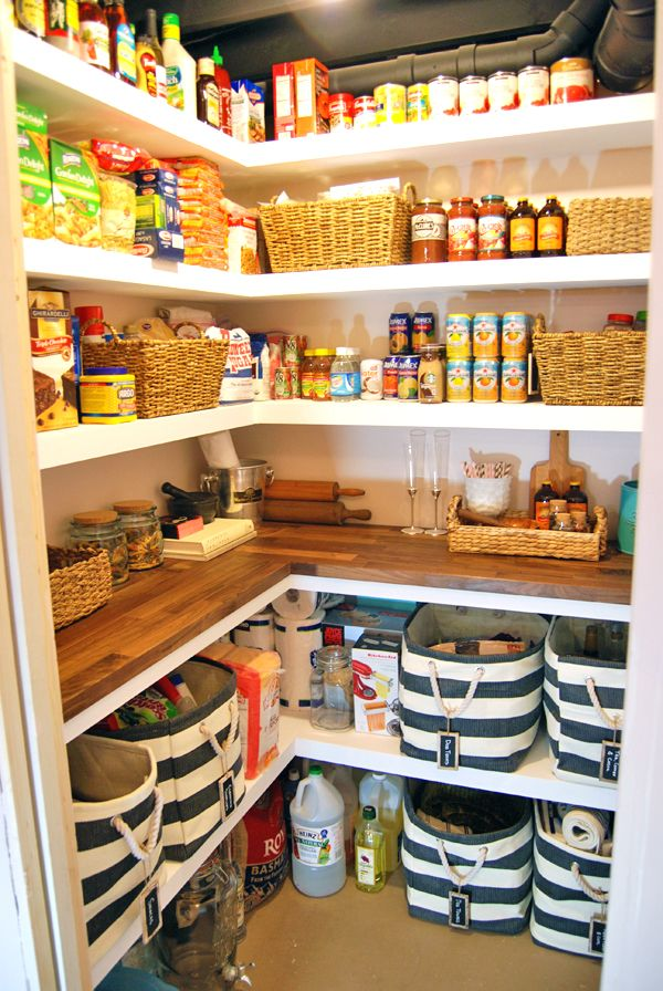 Our Home: The Finished DIY Basement Pantry - The C