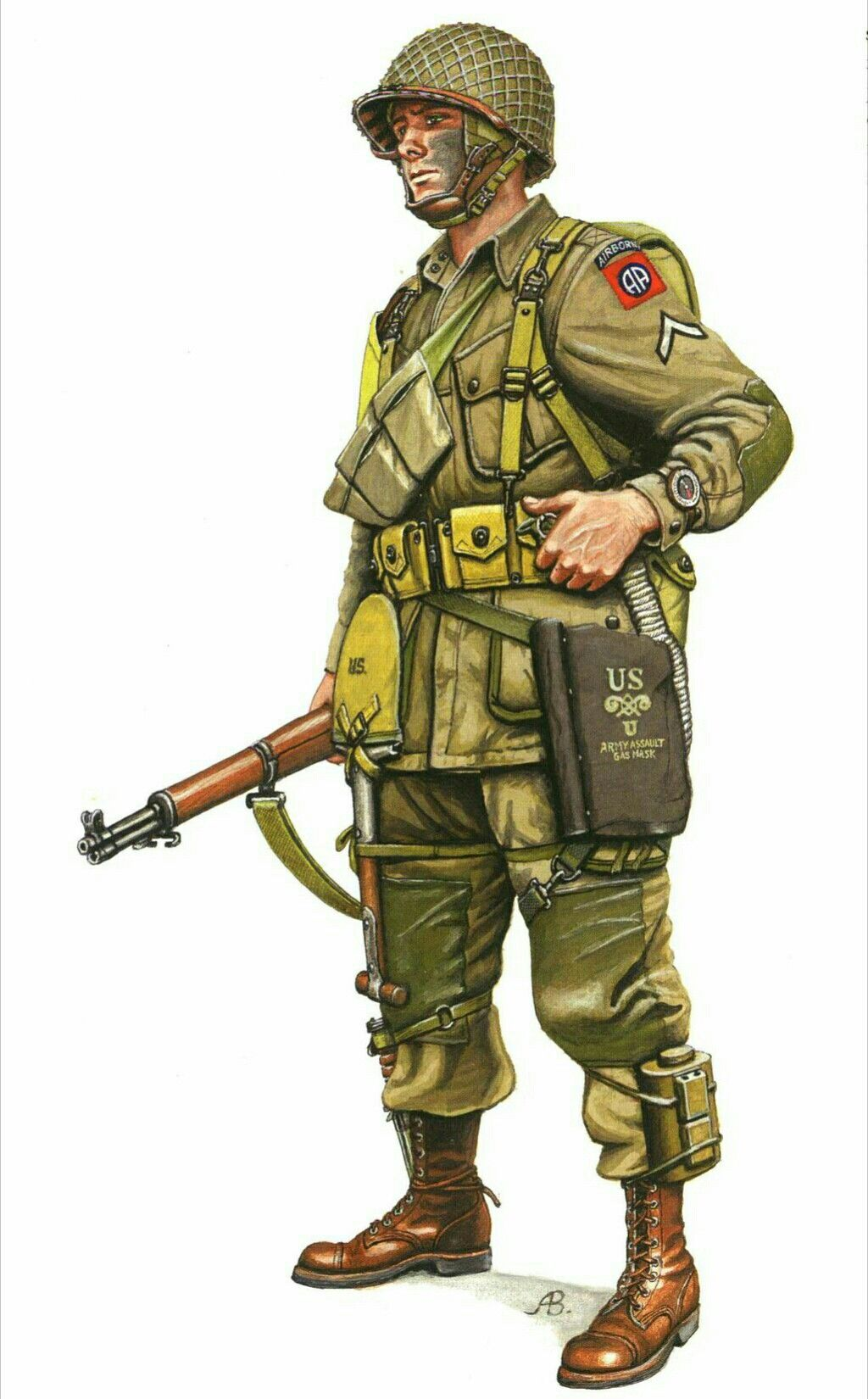 8c87ad4a U.S. paratrooper, WWII   WWII Uniforms and weapons   Guerre mondiale ...