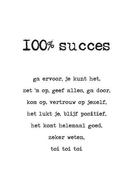 spreuken gedichten gezegden en citaten succes 13 06 100% succes | handlettering   Succes, Spreuken en Citaten spreuken gedichten gezegden en citaten succes