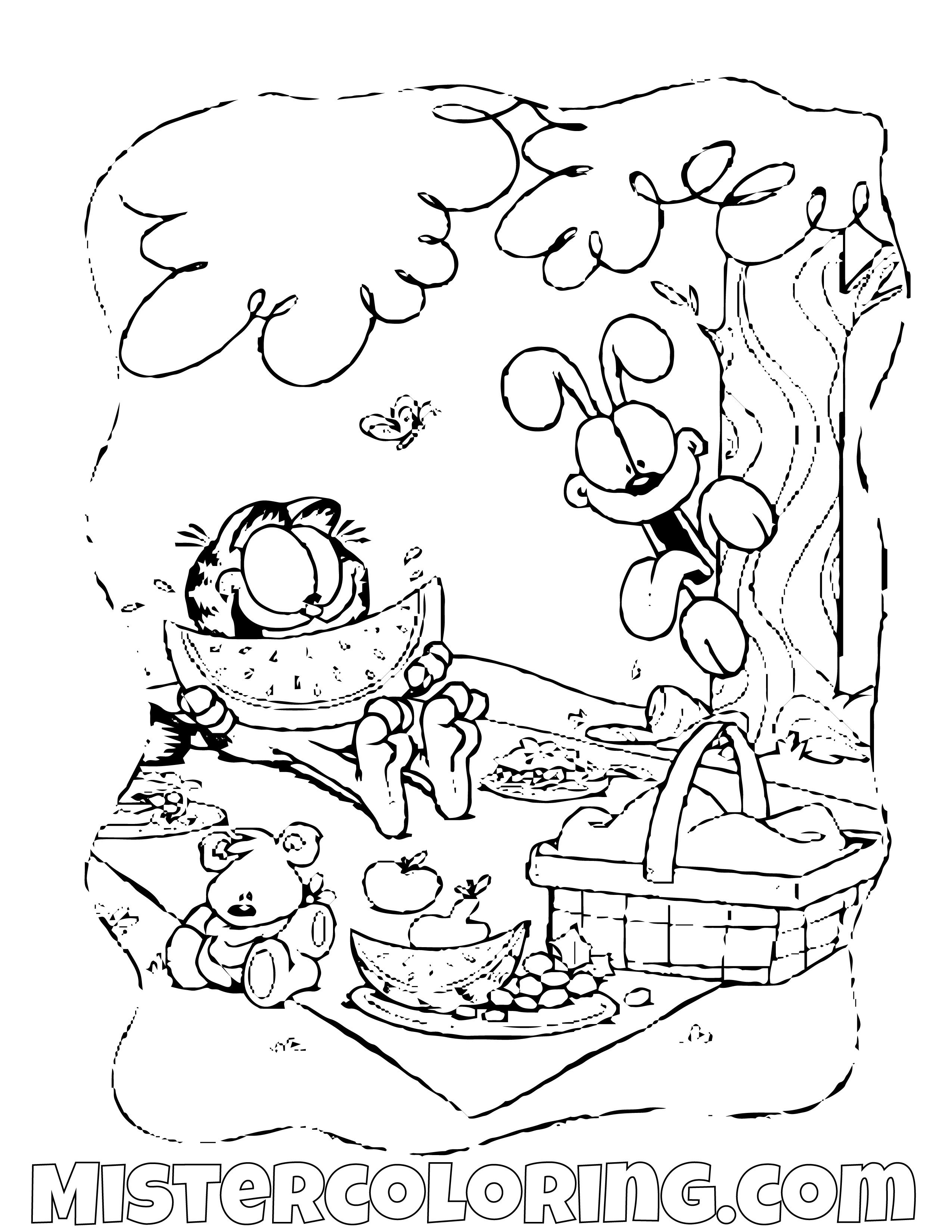Pin By Jose Quot Cijo Quot Vazquez On Garfield Coloring Pages For