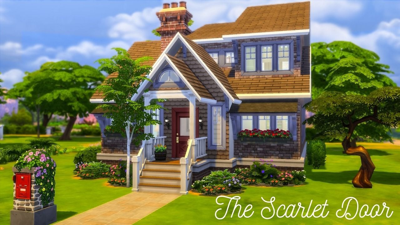 The Scarlet Door | No CC & The Scarlet Door | No CC | Sims 4 CC | Pinterest | Scarlet and Sims