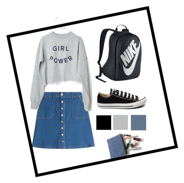 """""""Untitled #1"""" by angela-lzy ❤ liked on Polyvore featuring HUGO, NIKE and Converse"""