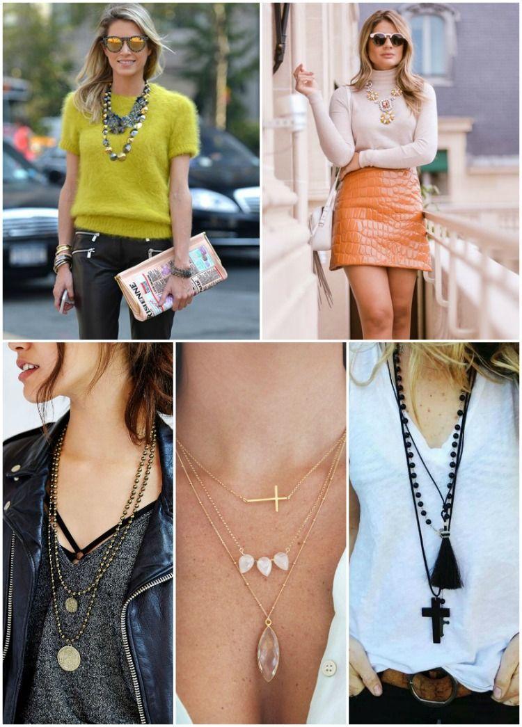 8fd25a0b6 Como usar acessórios à seu favor - colares Acessórios De Moda, Dicas De Moda ,