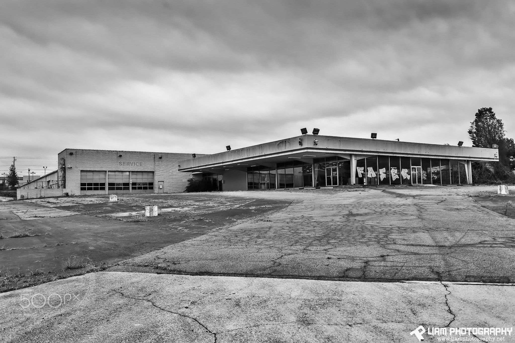 Abandoned Chevrolet Dealership - I shot this in Decatur ...