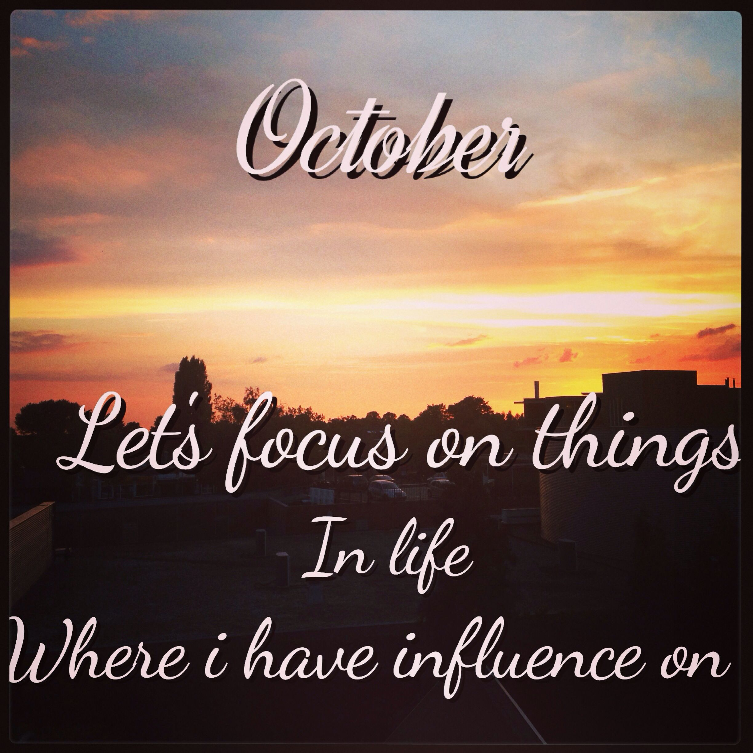 Dear October, I know your are great and also you are mine ...
