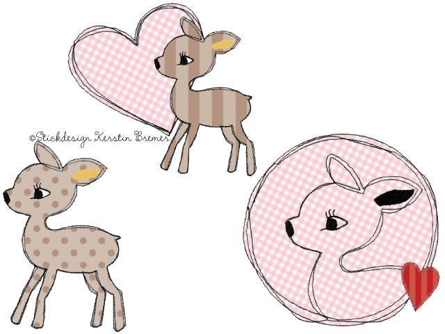 Kreatyve Diy Reh Kissen Freebie Vorlage Tiervorlagen 1