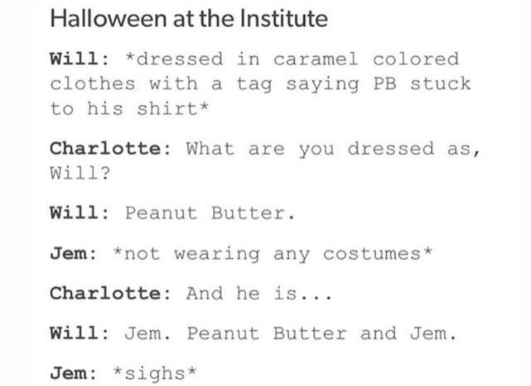 Halloween at the Institute / Peanut Butter and Jem | The Mortal ...