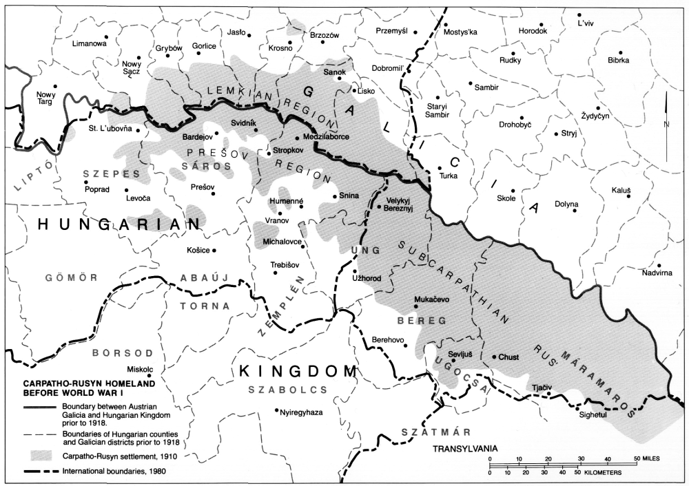 Map showing the full geographic extent of the rusyn people in map showing the full geographic extent of the rusyn people in central europe carpathorusynsociety gumiabroncs