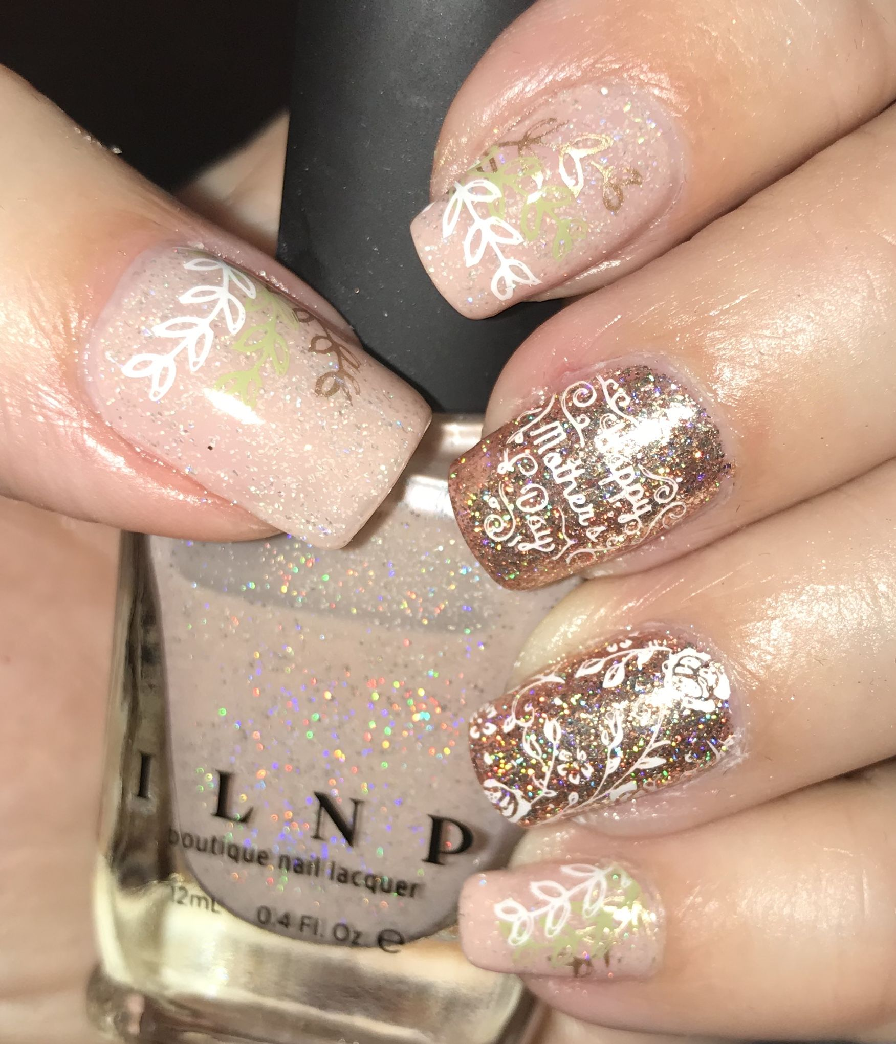 Ilnp Birthday Suit Nude Holo And Juliette Rose Gold Glitter And