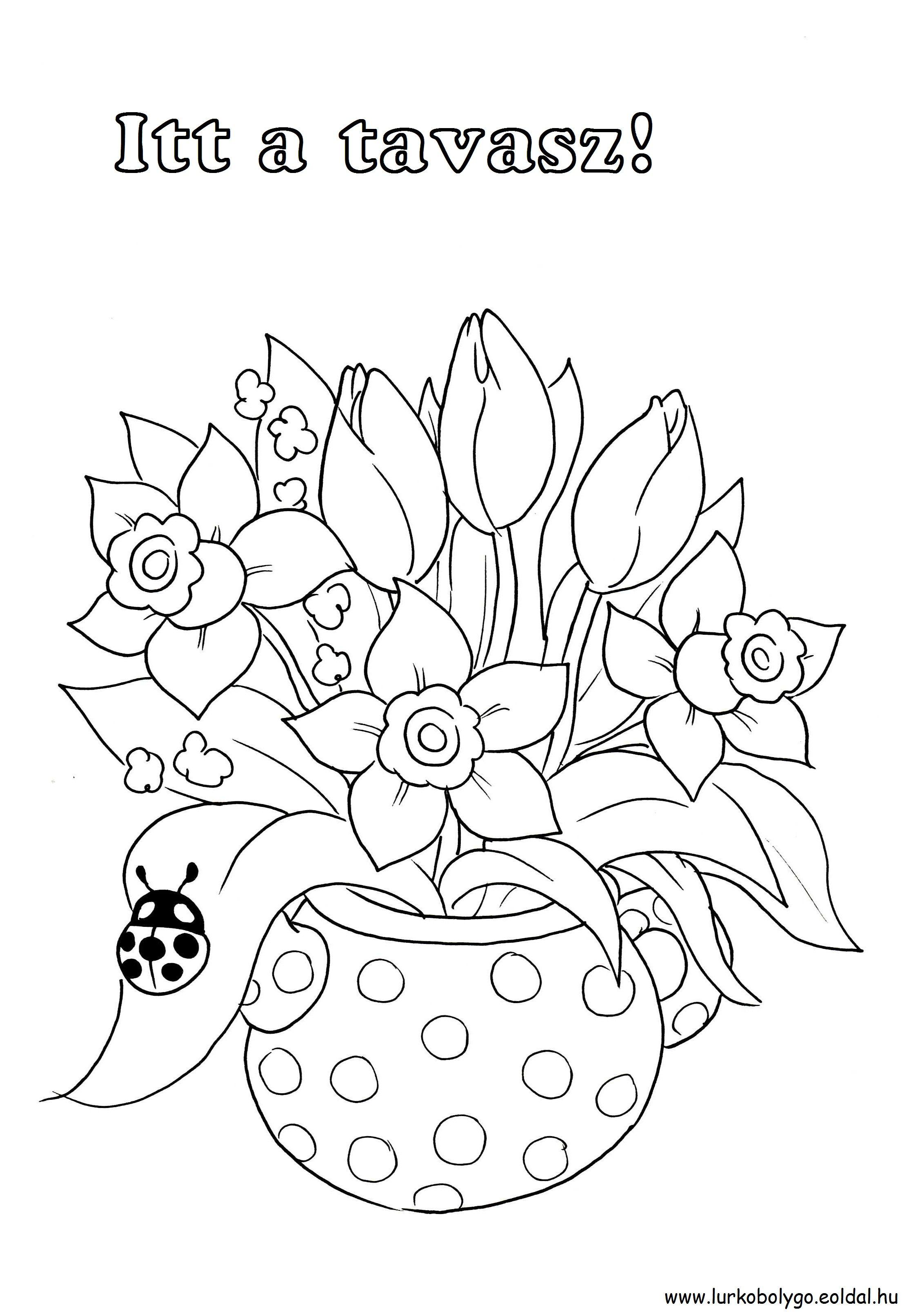 tavaszi rajzok - Google keresés | Színezők,sablonok,oktatás ...