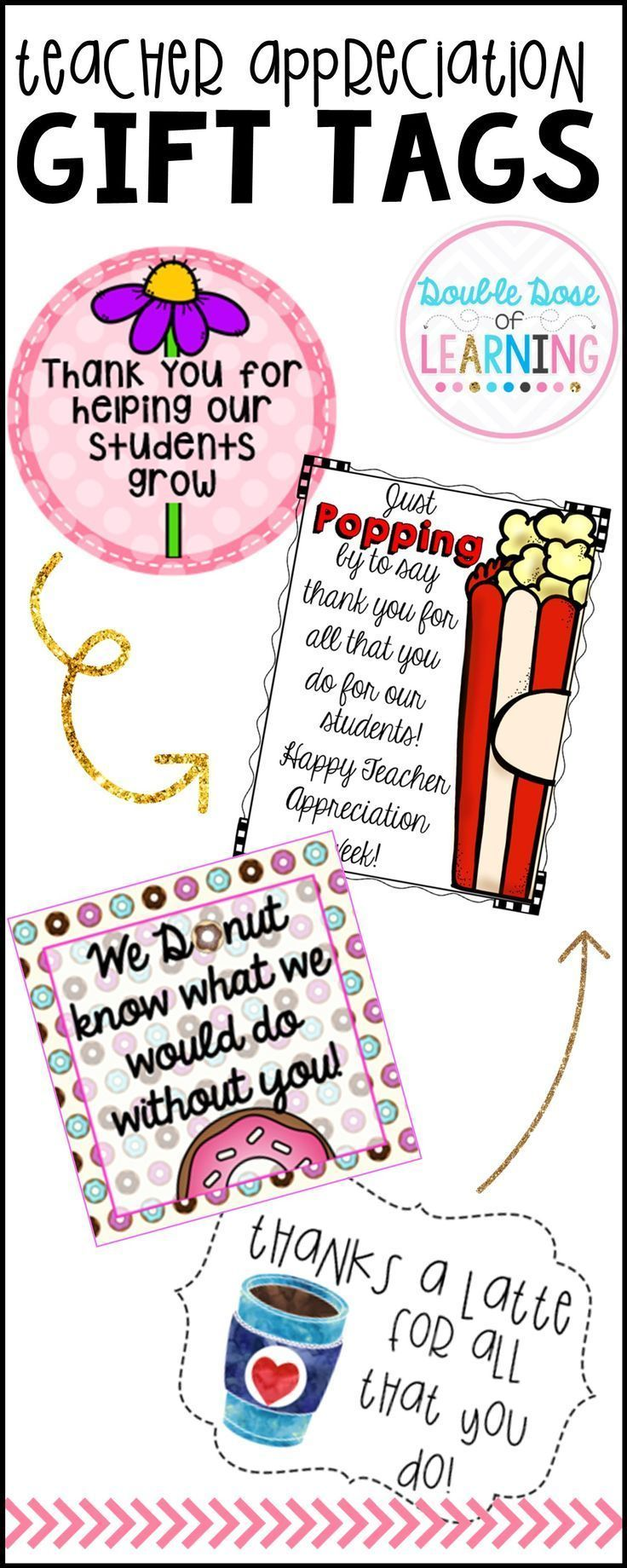 When Is Use Of Paraprofessionals >> Teacher Appreciation Gift Tags Middle School Ideas Teacher