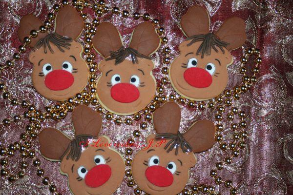 Rudolf the reindeer cookies.