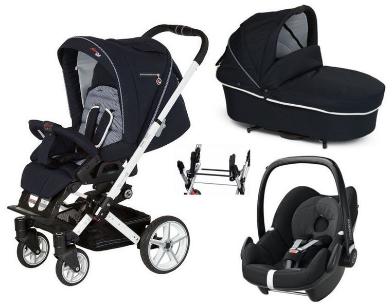 alles von anfang an dabei der hartan vip gt kinderwagen mit babywanne und maxi cosi pebble. Black Bedroom Furniture Sets. Home Design Ideas