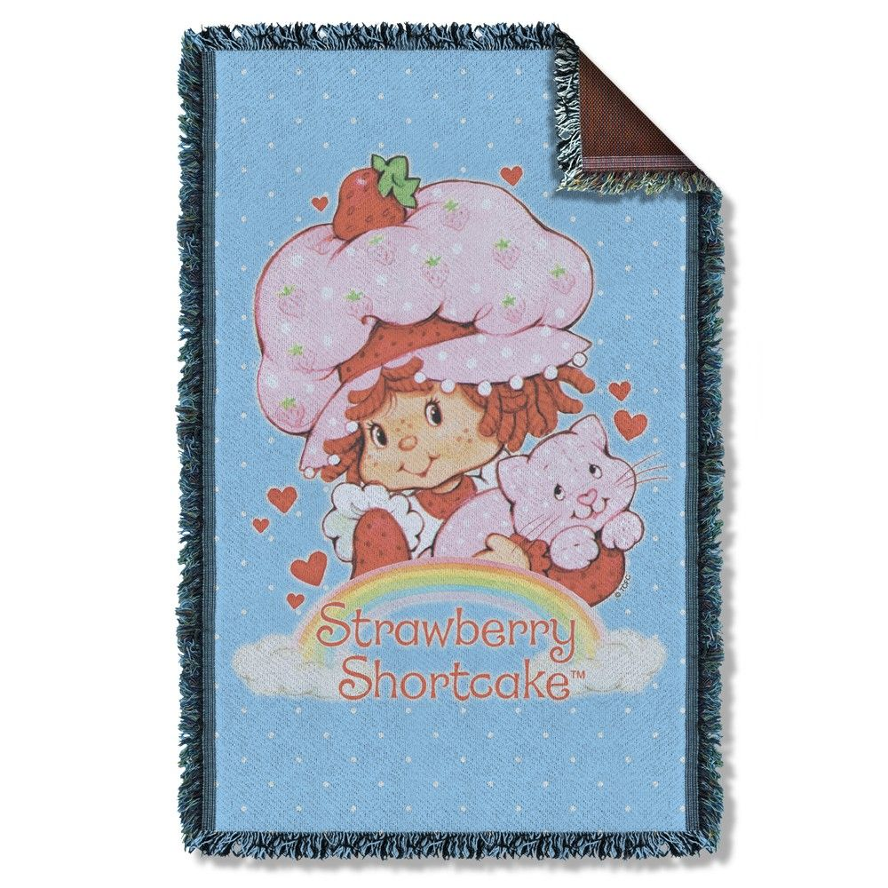 Strawberry Shortcake - Rainbow Woven Throw Blanket