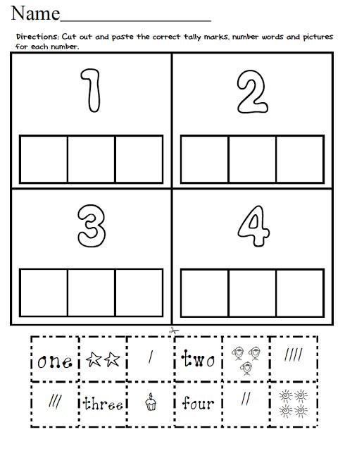 1-20 Number Match! (Cut and Paste) | KinderLand Collaborative ...