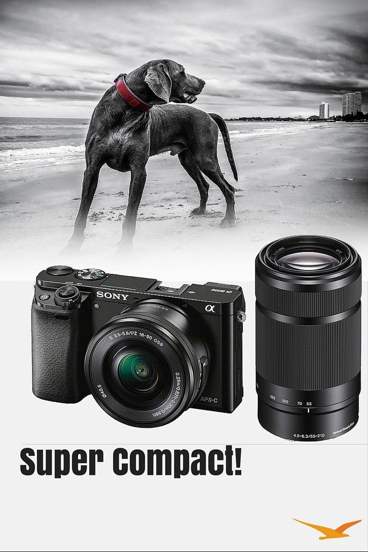 Sony Alpha A6000 Mirrorless Camera W 16 50mm 55 210mm Power Zoom Lenses Black Sony Mirrorless Camera Sony Camera