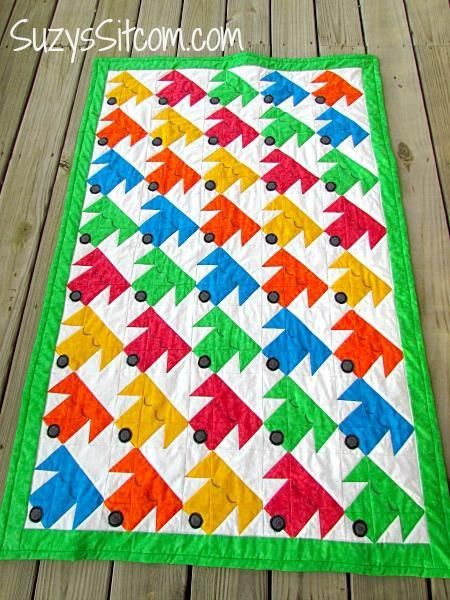 Cute Quilt Pattern On Craftsy Sleepy Puppies Love The Colors