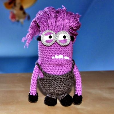 Patrón Minion malvado   Crochet   Pinterest   Malvado, Patrones y ...