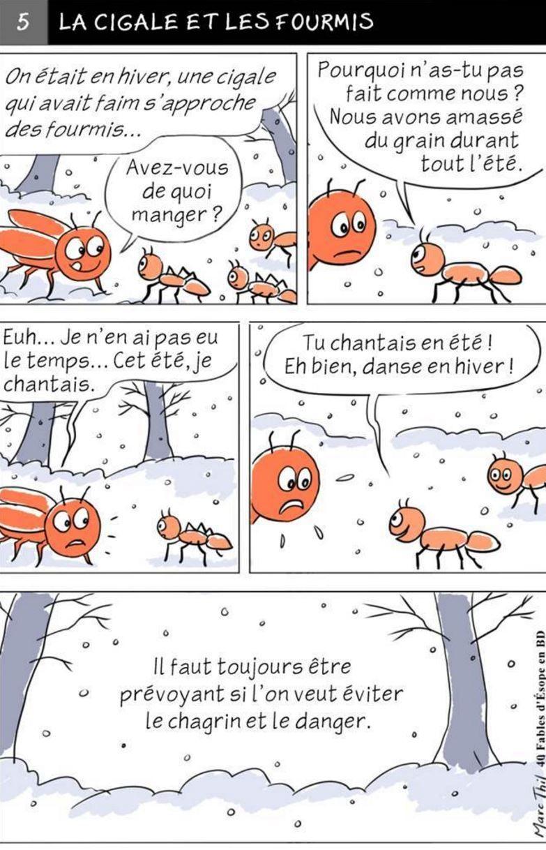 Fable desope en bd la cigale et les fourmis fables desope fable desope en bd la cigale et les fourmis fandeluxe Image collections